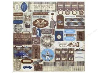 "scrapbooking & paper crafts: Authentique Collection Rugged Sticker 12""x 12"" Details (12 pieces)"