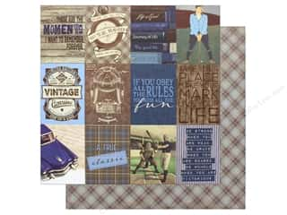"Clearance: Authentique Collection Rugged Paper 12""x 12"" Eight (25 pieces)"