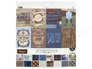 "scrapbooking & paper crafts: Authentique Collection Rugged Collection Kit 12""x 12"""