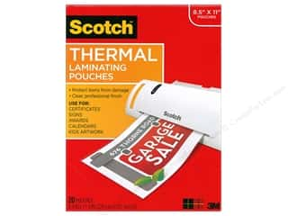 Scotch Laminating Pouch Thermal 8.5 in. x 11 in. 20 pc