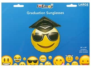 novelties: Everything Emoji Balloon Graduation Sunglasses