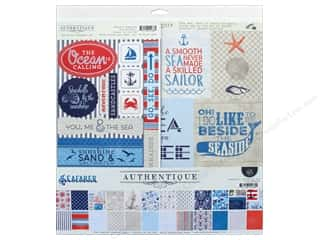 "scrapbooking & paper crafts: Authentique Collection Seafarer Collection Kit 12""x 12"""