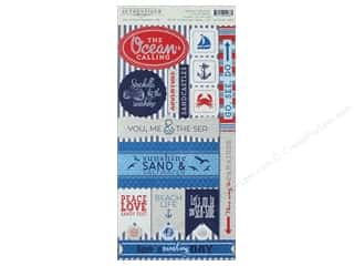 scrapbooking & paper crafts: Authentique Collection Seafarer Cardstock Components (12 pieces)