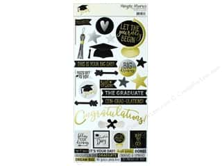 "scrapbooking & paper crafts: Simple Stories Collection Grad Sticker 6""x 12"" (12 pieces)"