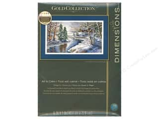 "yarn & needlework: Dimensions Cross Stitch Kit 16""x 9"" All Is Calm"