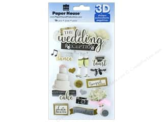 stickers: Paper House Sticker 3D Wedding Reception