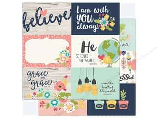 "Simple Stories: Simple Stories Collection Faith Paper 12""x 12"" Elements 4""x 6"" Horizontal (25 pieces)"