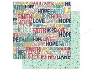 "Simple Stories: Simple Stories Collection Faith Paper 12""x 12"" Believe (25 pieces)"