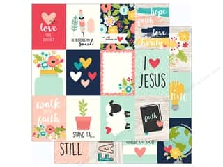 "Simple Stories Collection Faith Paper 12""x 12"" Journaling Card 3""x 4"" (25 pieces)"