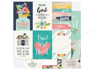 "Simple Stories: Simple Stories Collection Faith Paper 12""x 12"" Elements 4""x 6"" Vertical (25 pieces)"