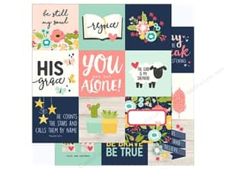 "Simple Stories: Simple Stories Collection Faith Paper 12""x 12"" Elements 4""x 4"" (25 pieces)"