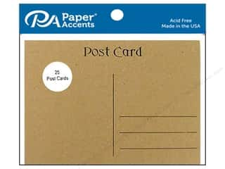 Paper Accents Post Cards 4 1/4 x 5 1/2 in. Brown Bag 25 pc.