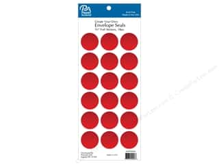 scrapbooking & paper crafts: Paper Accents Envelope Seals 1 1/8 in. Red Foil 18 pc.