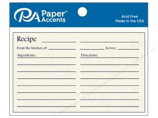 Paper Accents Recipe Card 4 x 6 in. Birch 25 pc.