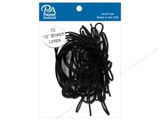 Paper Accents Stretch Loops 10 in. Black 10 pc.