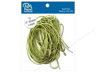 scrapbooking & paper crafts: Paper Accents Stretch Loops 14 in. Metallic Gold 10 pc.