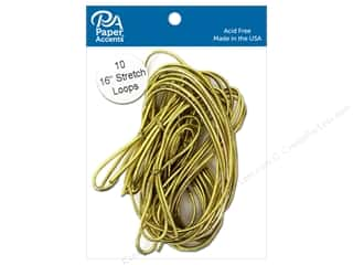 Paper Accents Stretch Loops 16 in. Metallic Gold 10 pc.