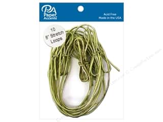 scrapbooking & paper crafts: Paper Accents Stretch Loops 8 in. Metallic Gold 10 pc.