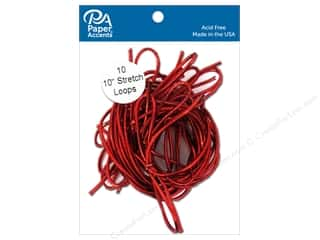 scrapbooking & paper crafts: Paper Accents Stretch Loops 10 in. Metallic Red 10 pc.