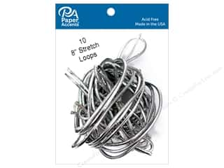scrapbooking & paper crafts: Paper Accents Stretch Loops 8 in. Metallic Silver 10 pc.