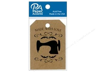 stamps: Paper Accents Craft Tags 2 1/8 x 3 in. 25 pc. Sewing Machine Brown Bag