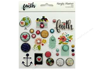 Simple Stories: Simple Stories Collection Faith Decorative Brads Carpe Diem