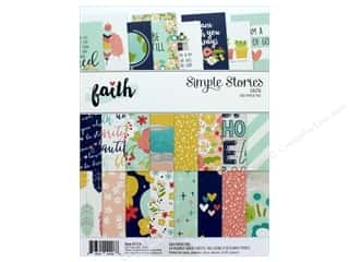"Simple Stories: Simple Stories Collection Faith Paper Pad 6""x 8"""
