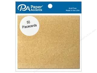 Paper Accents Placecards 3 x 3 1/2 in. Brown Bag 50 pc.