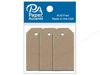 stamps: Paper Accents Craft Tags 7/8 x 1 3/4 in. 25 pc. Brown Bag