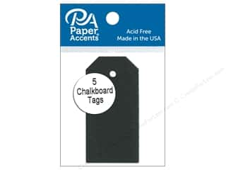 scrapbooking & paper crafts: Paper Accents Craft Tags 1 1/4 x 2 1/2 in. 5 pc. Adhesive Chalkboard