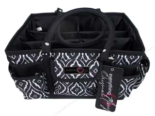 craft & hobbies: Everything Mary Deluxe Store & Tote Black & White
