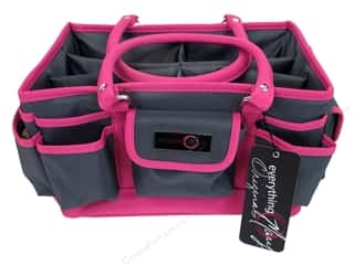 craft & hobbies: Everything Mary Deluxe Store & Tote Black & Pink