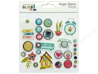 Simple Stories Collection Domestic Bliss Decorative Brads