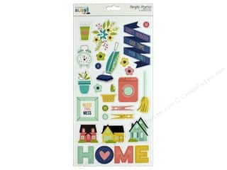 "scrapbooking & paper crafts: Simple Stories Collection Domestic Bliss Chipboard 6""x 12"""