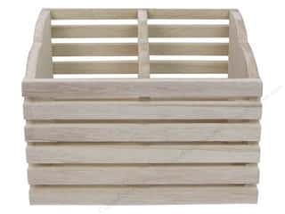Sierra Pacific Crafts Wood Pen Holder Slat 6.3 in. x 3.5 in. x 4.92 in. Natural