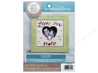 "yarn & needlework: Dimensions Embroidery Kit 5""x 5"" Cathy Heck Love You More"