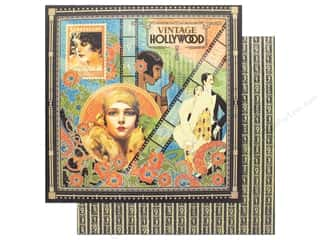 """scrapbooking & paper crafts: Graphic 45 Collection Vintage Hollywood Paper 12""""x 12"""" (25 pieces)"""
