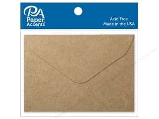 art, school & office: Paper Accents 1 3/4 x 2 3/8 in. Envelopes 15 pc. Brown Bag