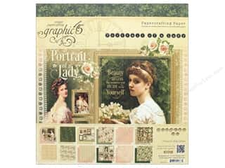 """Graphic 45: Graphic 45 Collection Portrait Of A Lady Paper Pad 8""""x 8"""""""