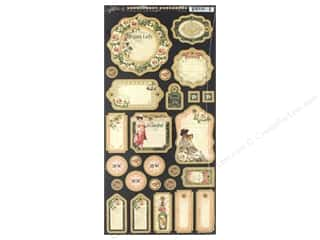 Graphic 45 Collection Portrait Of A Lady Journaling Chipboard
