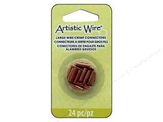 beading & jewelry making supplies: Artistic Wire Crimp Connector Large Wire Assorted Sizes Copper 24 pc