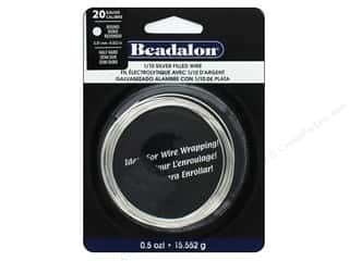 beading & jewelry making supplies: Beadalon Silver Filled Wire Round Half Hard 20 Gauge