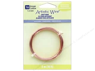 beading & jewelry making supplies: Artistic Wire 16 Gauge Tarnish Resistant Rose Gold 10 ft