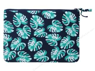 craft & hobbies: Darice All-Purpose Zippered Fabric Pouch - Palm Blue