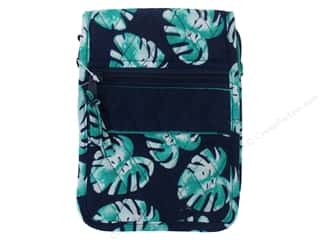 craft & hobbies: Darice Quilted Small Crossbody Hipster Bag - Palm Blue