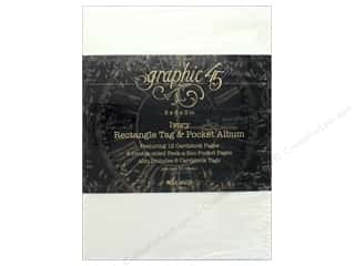 Graphic 45 Staples Album Rectangle Tag & Pocket Ivory