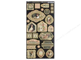 Graphic 45: Graphic 45 Collection Portrait Of A Lady Decorative Chipboard