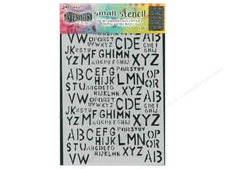 scrapbooking & paper crafts: Ranger Stencil Dylusions Small Old School Alpha
