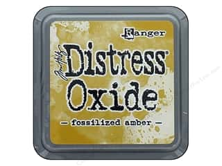 stamps: Ranger Tim Holtz Distress Oxide Ink Pad Fossilized Amber