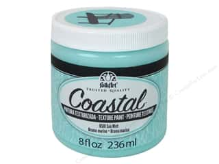 craft & hobbies: Plaid Folkart Coastal Texture Paint 8 oz. Sea Mist